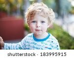 beautiful toddler boy on...