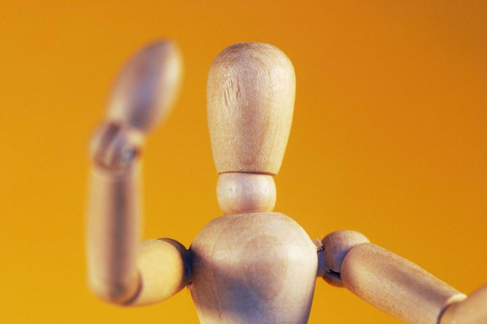 Download Free Stock Photo of Wooden mannequin