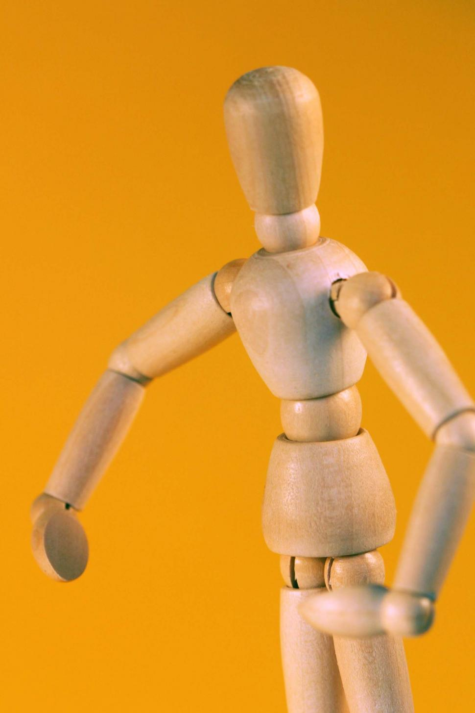 Download Free Stock Photo of Wooden Artist mannequin