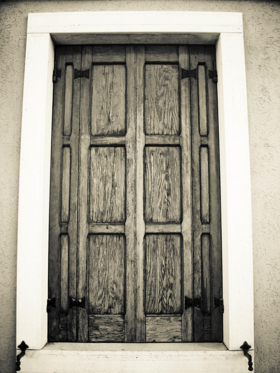 Download Free Stock HD Photo of wooden window shutters Online