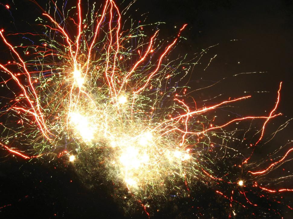 Download Free Stock Photo of Fireworks explode