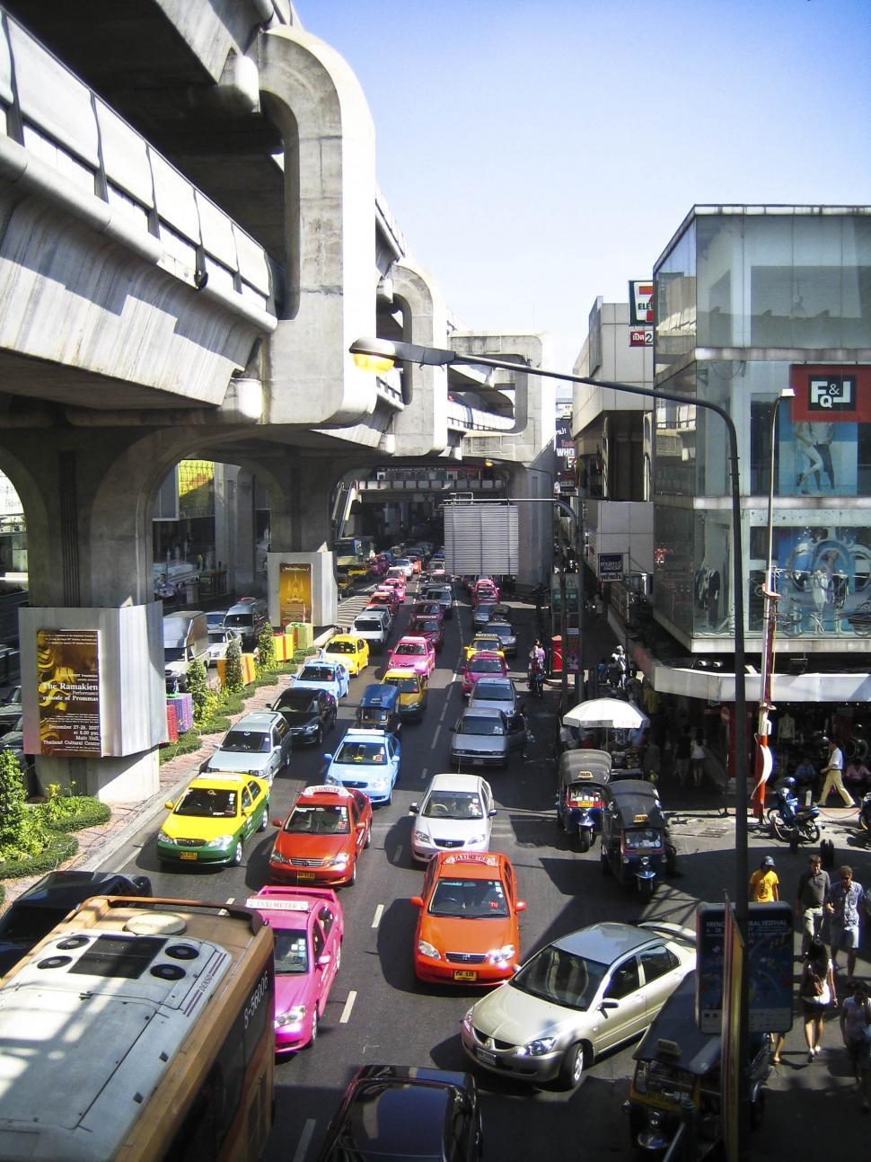 Download Free Stock HD Photo of Street in Bangkok Online