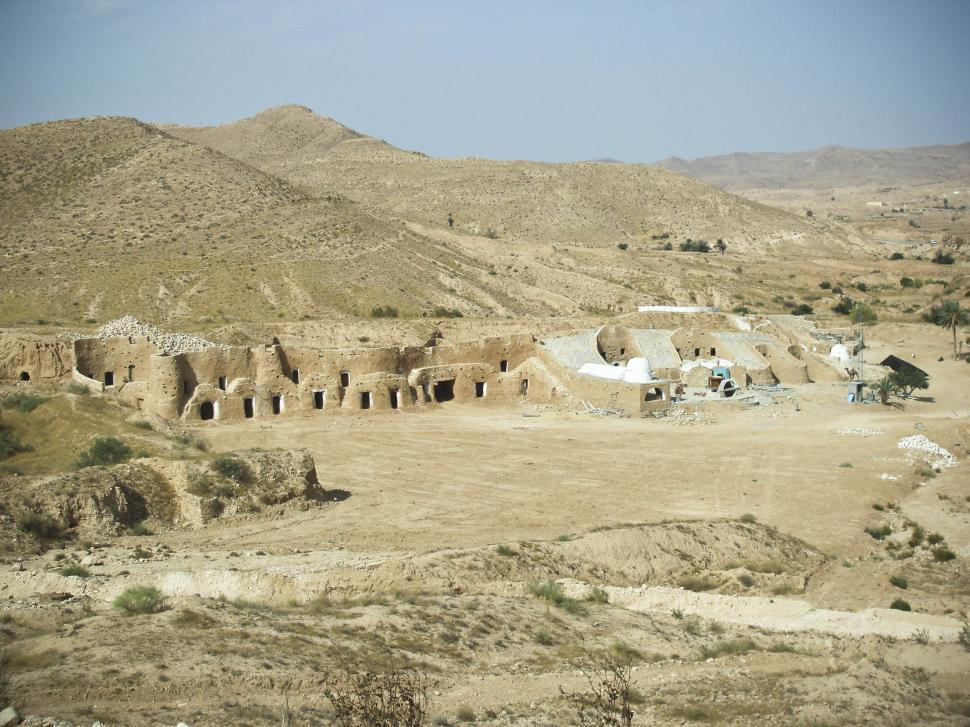Download Free Stock HD Photo of Old settlement in Tunisia Desert Online