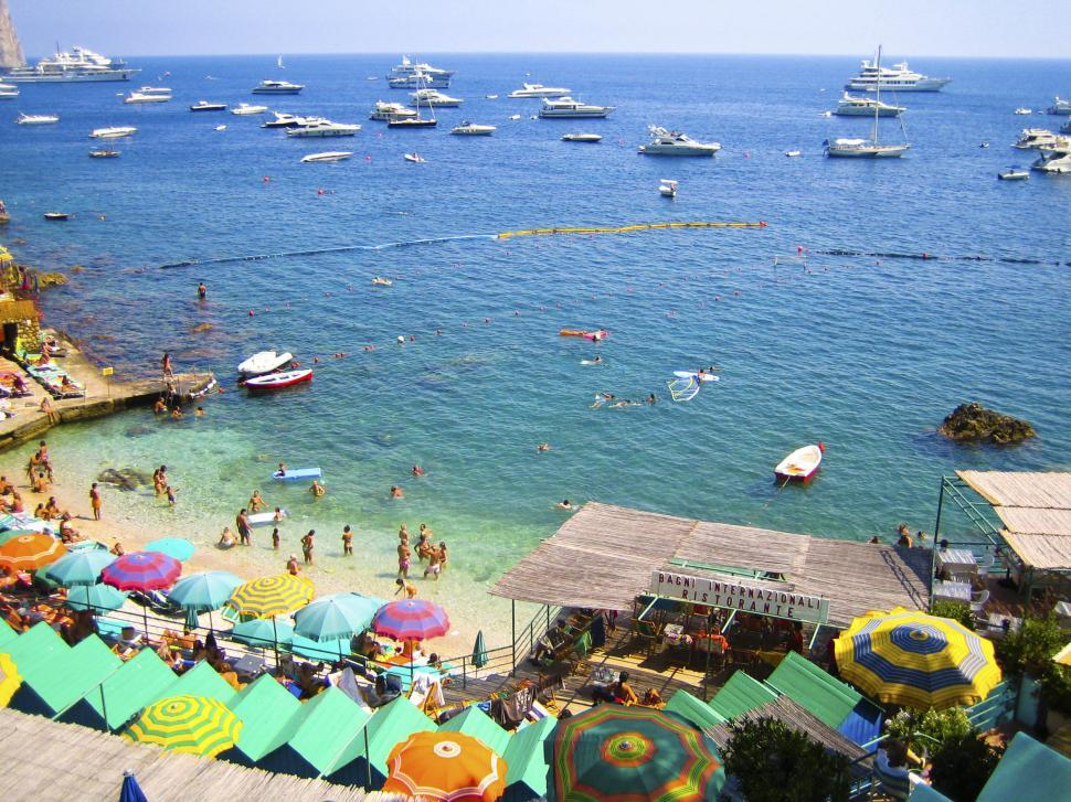 Download Free Stock Photo of Beach and boats in Capri
