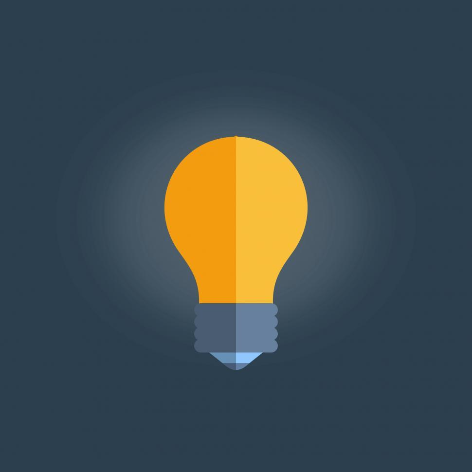 Download Free Stock Photo of Simple Lightbulb Illustration