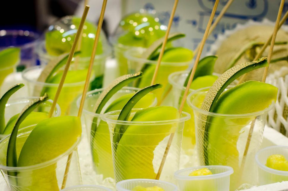 Download Free Stock HD Photo of Melon in the glass  Online