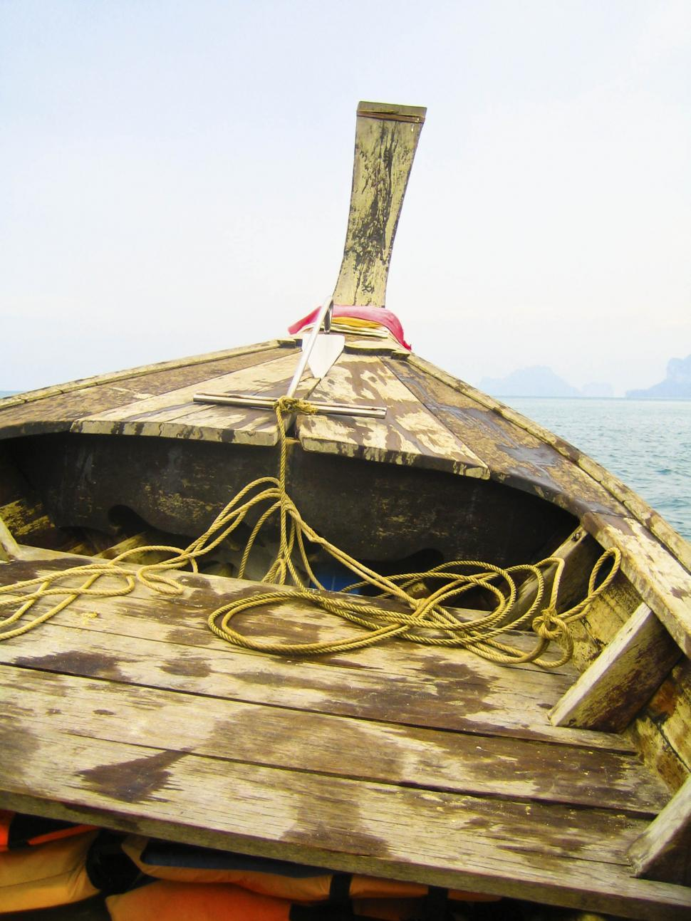 Download Free Stock HD Photo of On a wooden boat Online
