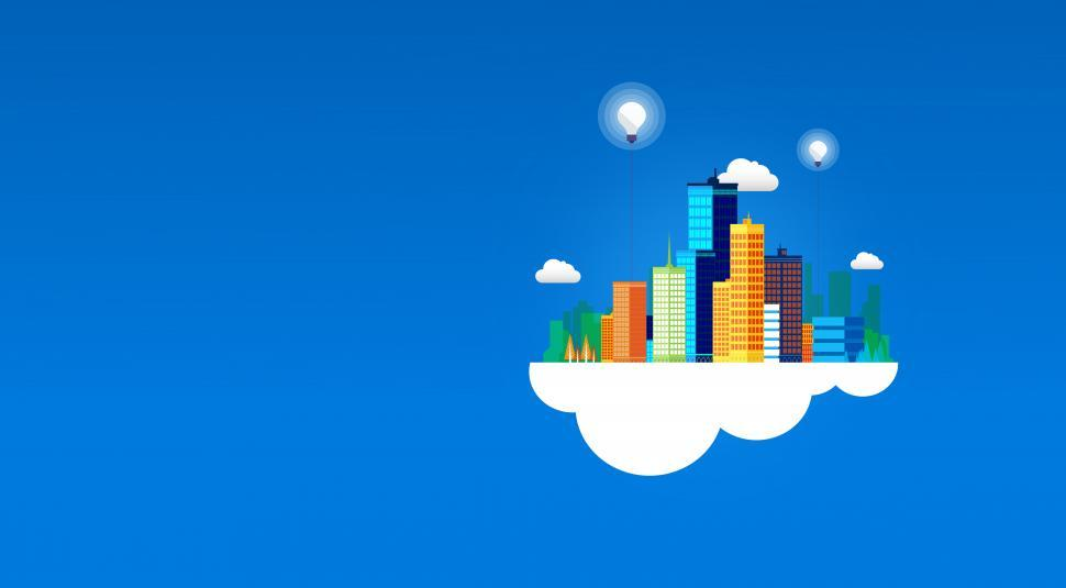 Download Free Stock HD Photo of Cloud Infrastructure - Cloud Computing - With Copyspace Online