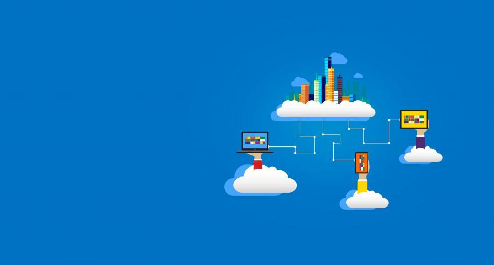 Download Free Stock Photo of Cloud Infrastructure - With Copyspace