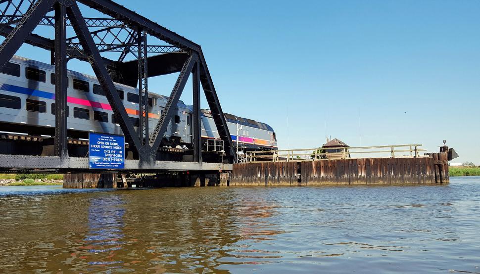 Download Free Stock HD Photo of Train Over Bridge  Online
