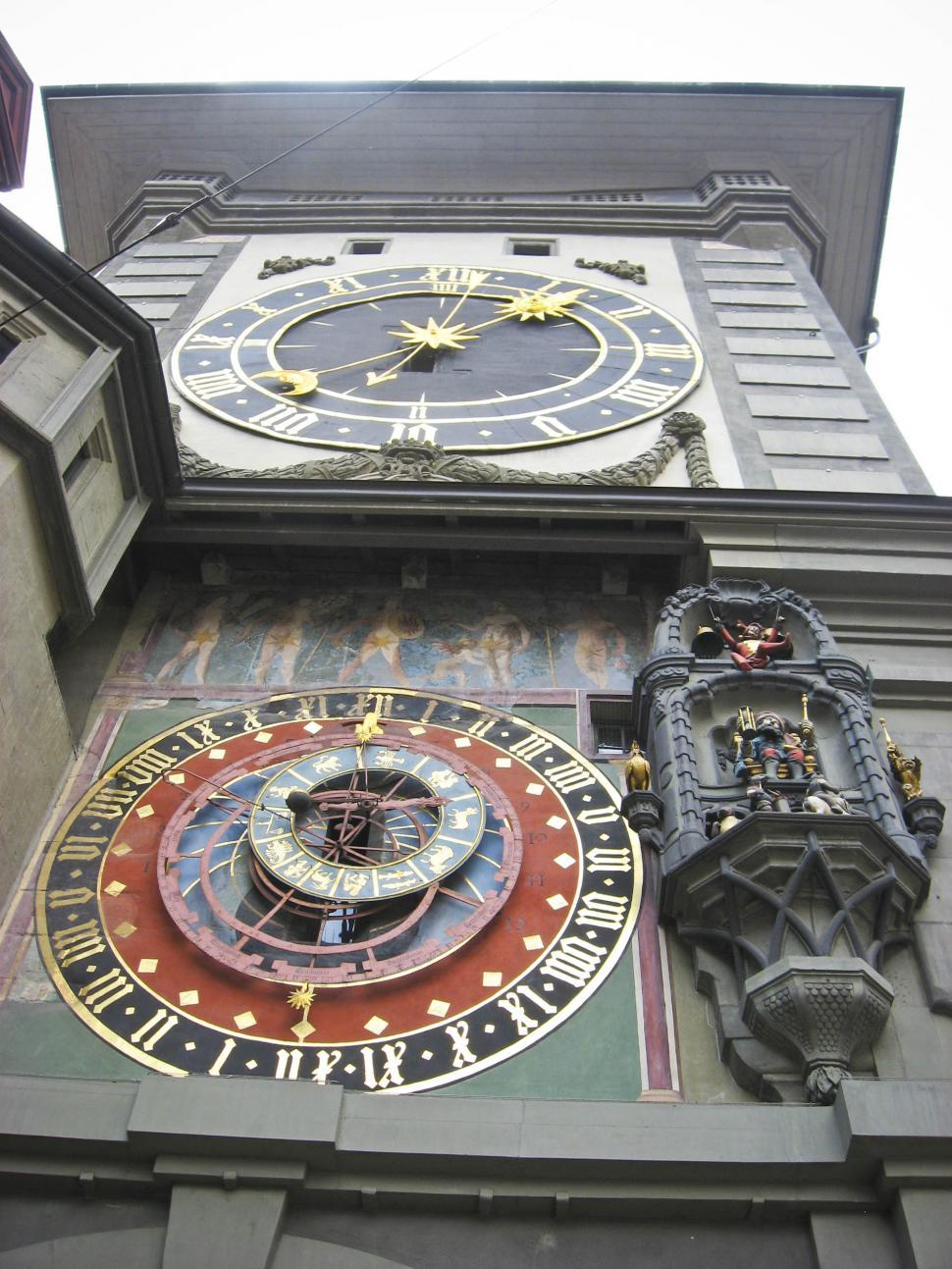 Download Free Stock Photo of Mechanical Clock in Bern, Switzerland