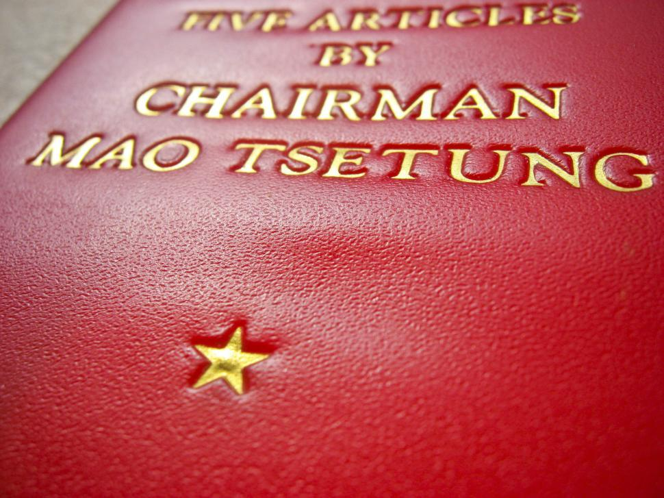 Download Free Stock Photo of Red Star on Mao book