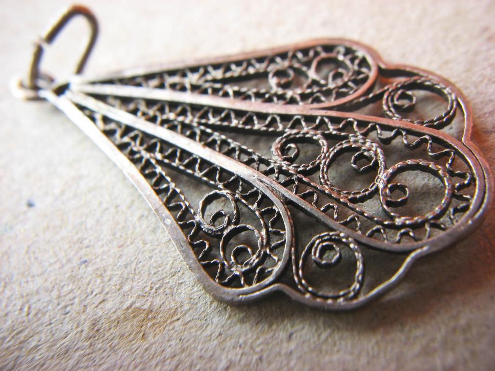 Download Free Stock Photo of Handmade pendant
