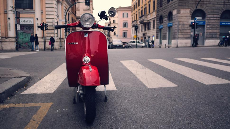 Download Free Stock Photo of motor scooter wheeled vehicle vehicle bearskin hat conveyance headdress