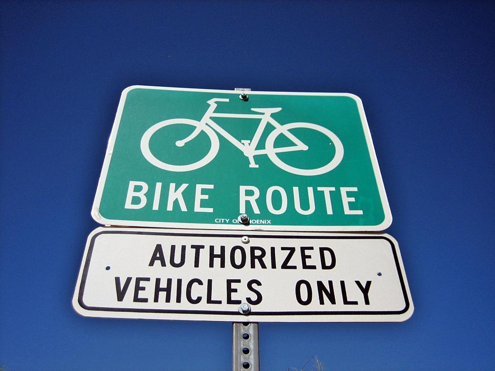 Download Free Stock HD Photo of Bike Route Sign Online