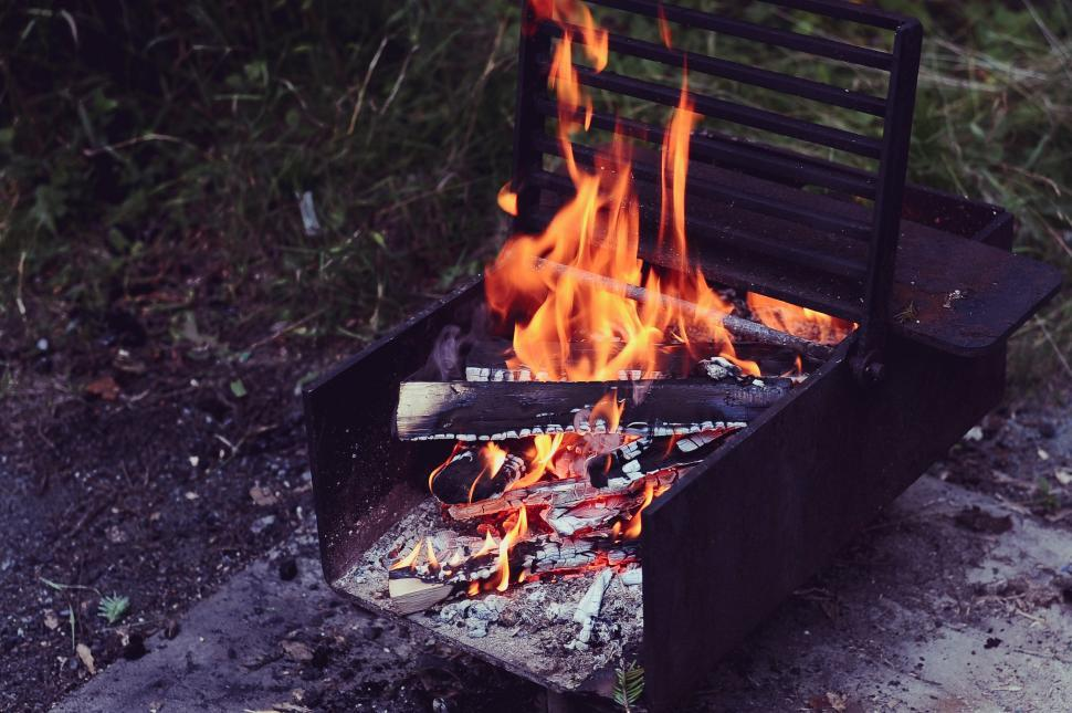 Download Free Stock Photo of barbecue rotisserie oven meat grill food kitchen appliance cooking dinner meal grilled fire hot cook picnic lunch beef