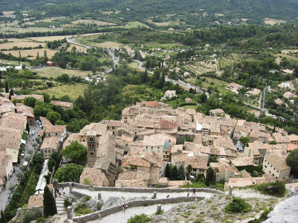 Download Free Stock Photo of french village and valley
