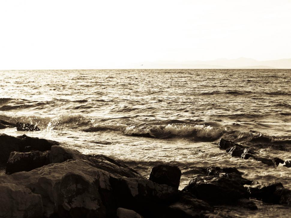 Download Free Stock HD Photo of Sepia Seascape Online