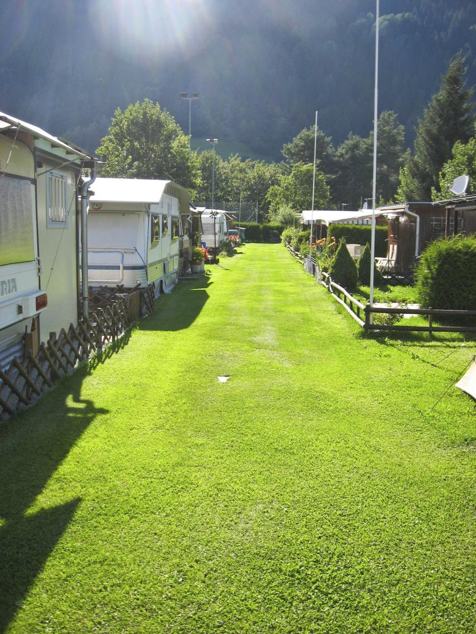 Download Free Stock HD Photo of alpine trailer park Online