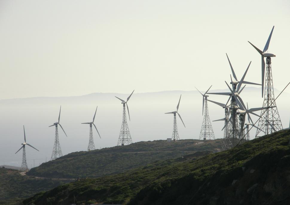 Download Free Stock HD Photo of Tarifa - wind turbine farm Online