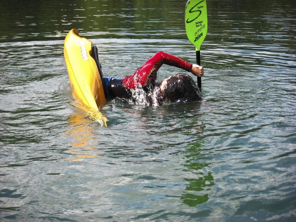 Download Free Stock Photo of kayaker