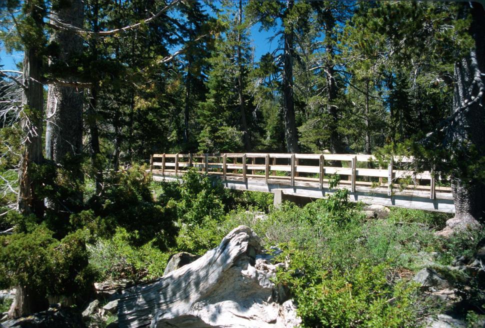 Download Free Stock HD Photo of Small footbridge over creek Online