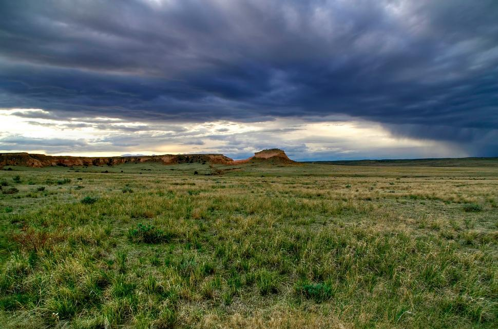 Download Free Stock Photo of Pawnee Buttes Cloudscape