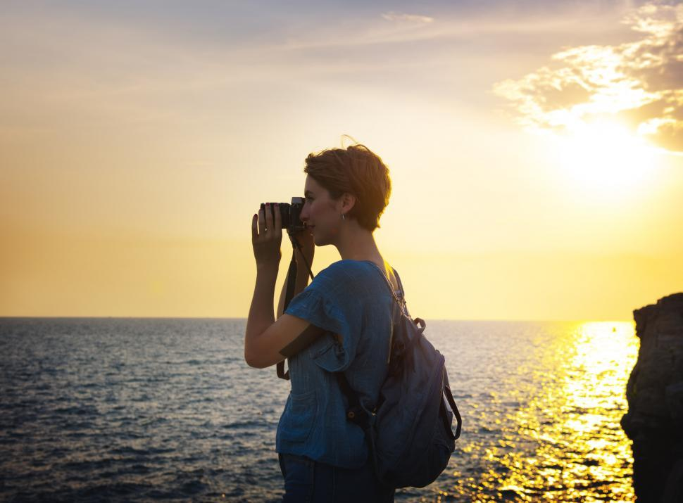 Download Free Stock Photo of Photographing the Ocean