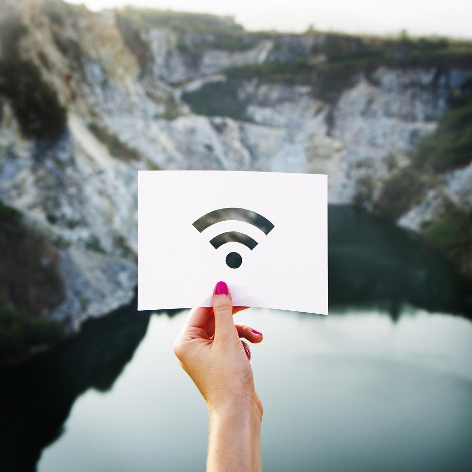 Download Free Stock Photo of Paper Wifi cutout