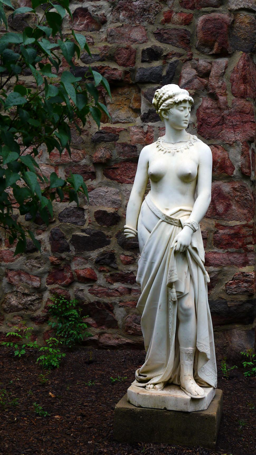 Download Free Stock Photo of Garden Carved Stature