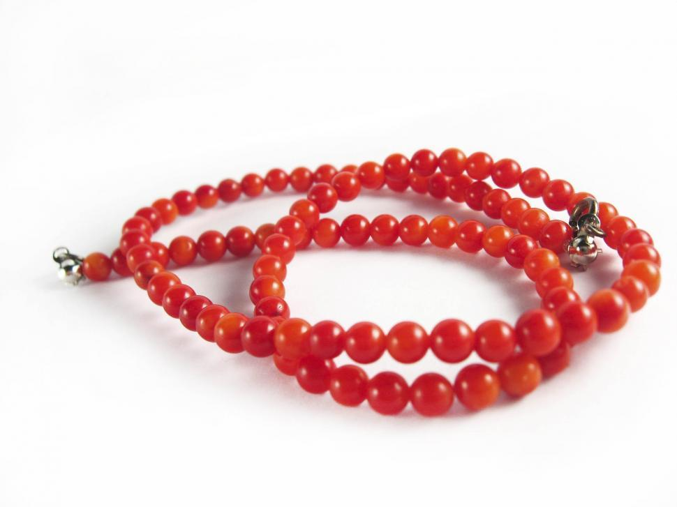 Download Free Stock Photo of Red necklace
