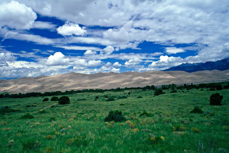 Download Free Stock HD Photo of Great Sand Dunes Clouds and Sky  Online