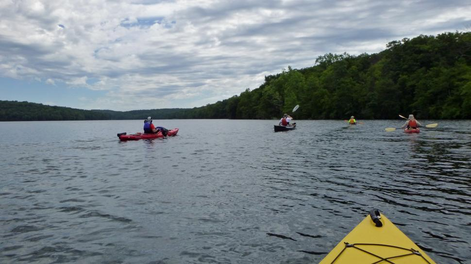 Download Free Stock Photo of Splitrock Reservoir Kayaking Group