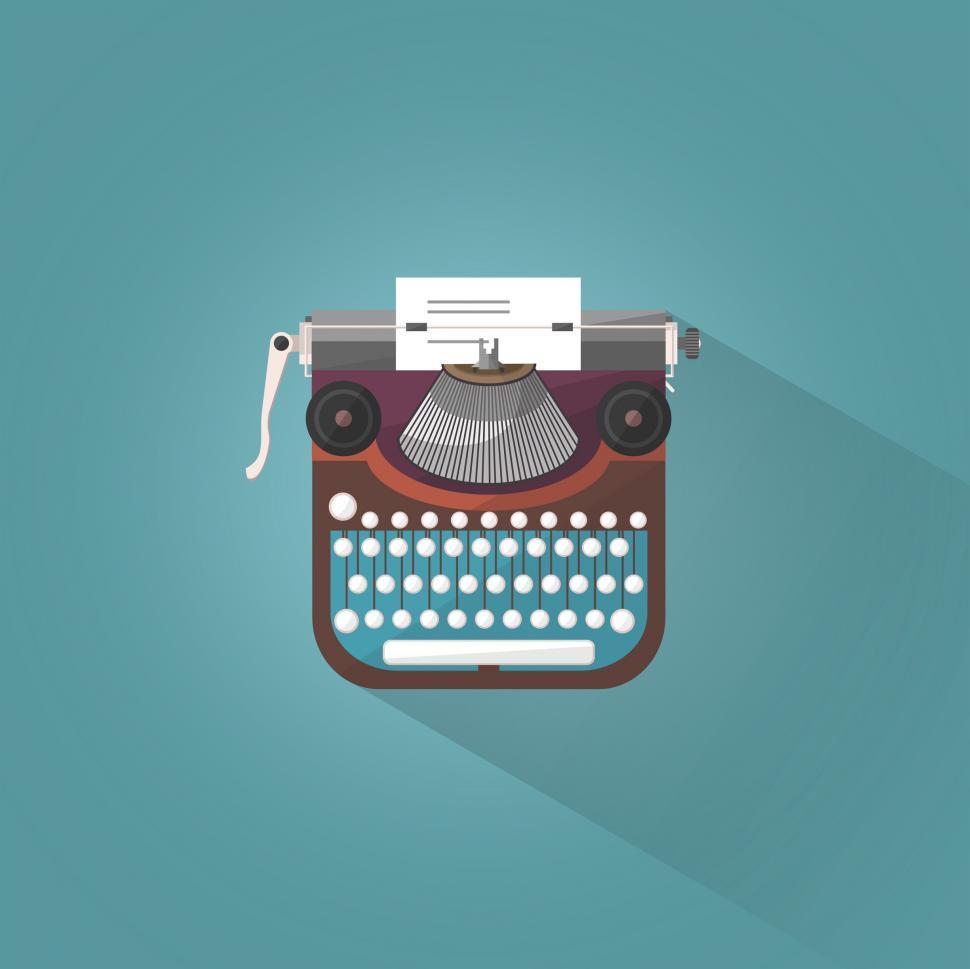 Download Free Stock Photo of Vintage Typewriter - Illustration