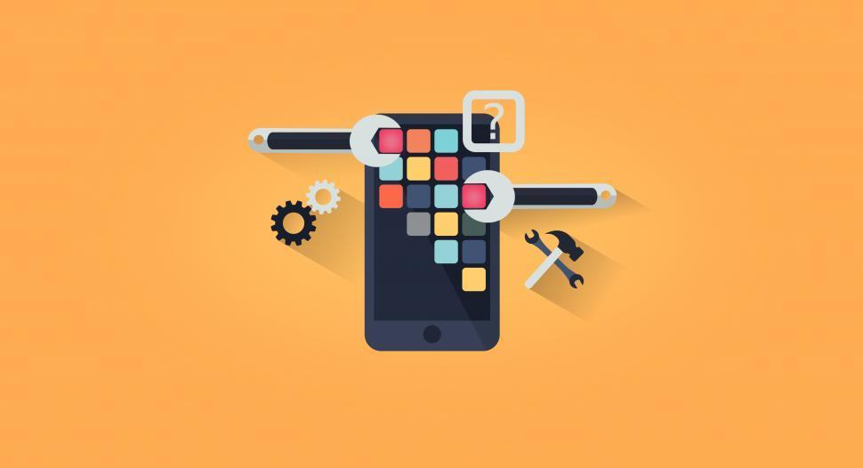 Download Free Stock HD Photo of App Development - App Design - Simple Illustration Online