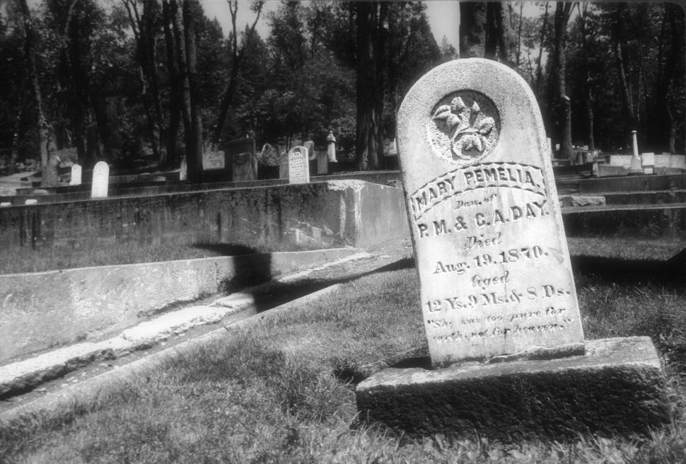 Download Free Stock HD Photo of Black and white grave marker Online