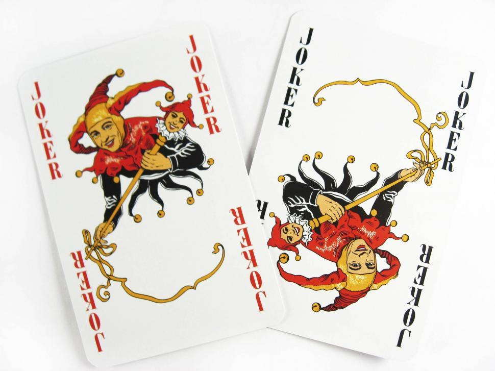 Download Free Stock Photo of joker playing cards
