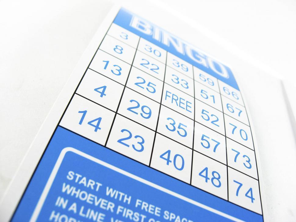 Download Free Stock HD Photo of bingo card Online