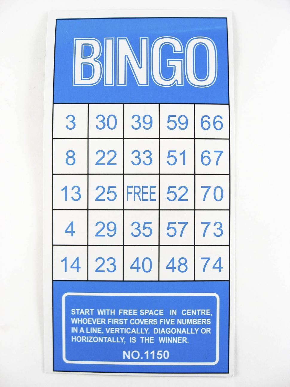 Download Free Stock Photo of bingo sheet