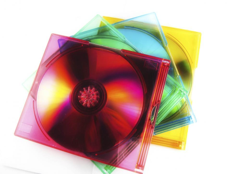 Download Free Stock HD Photo of compact disc stack Online