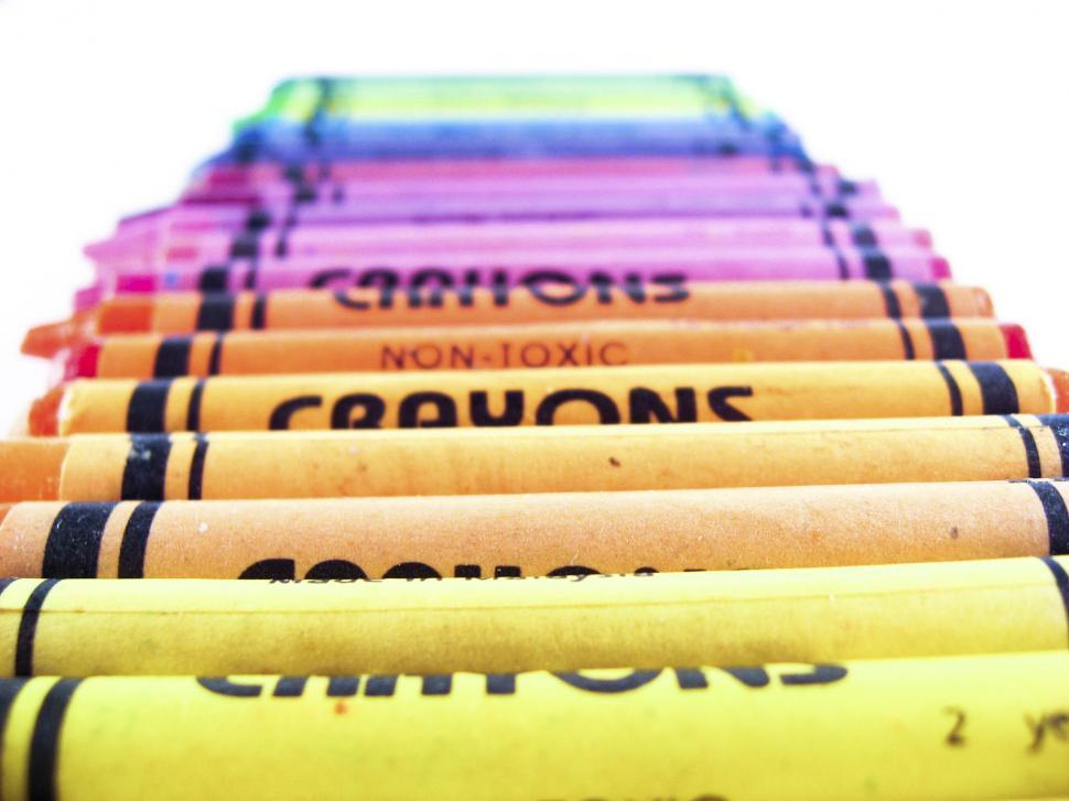 Download Free Stock Photo of crayon layers