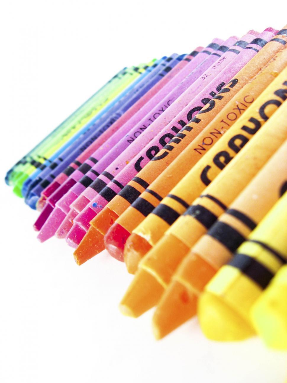Download Free Stock Photo of crayons