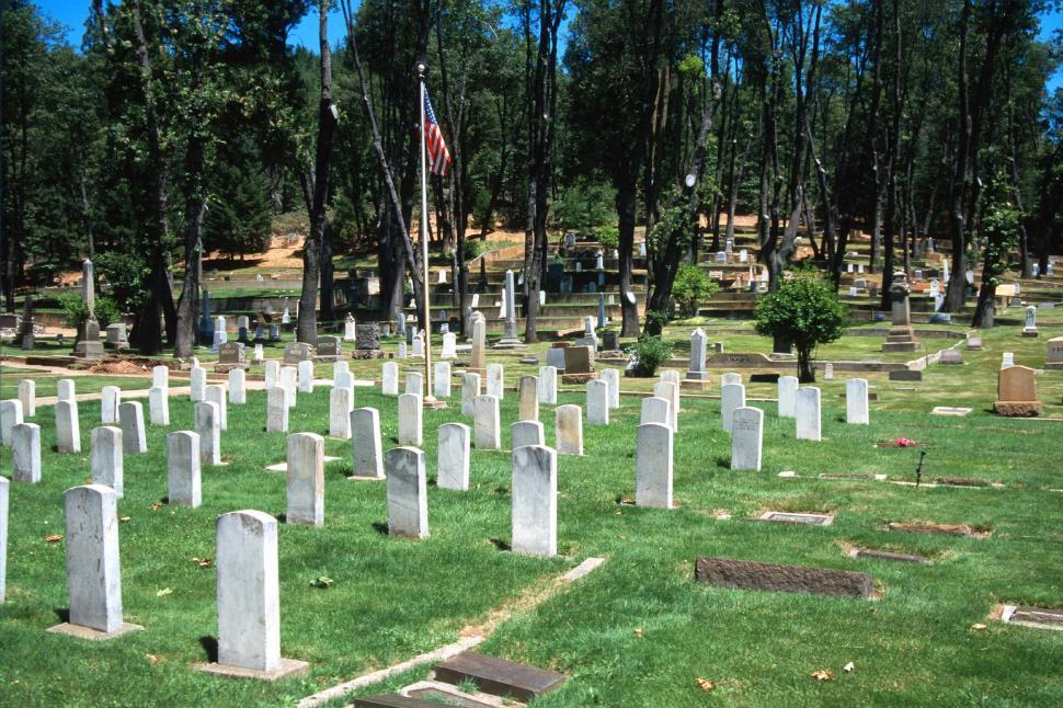 Download Free Stock HD Photo of Headstones in small cemetery Online