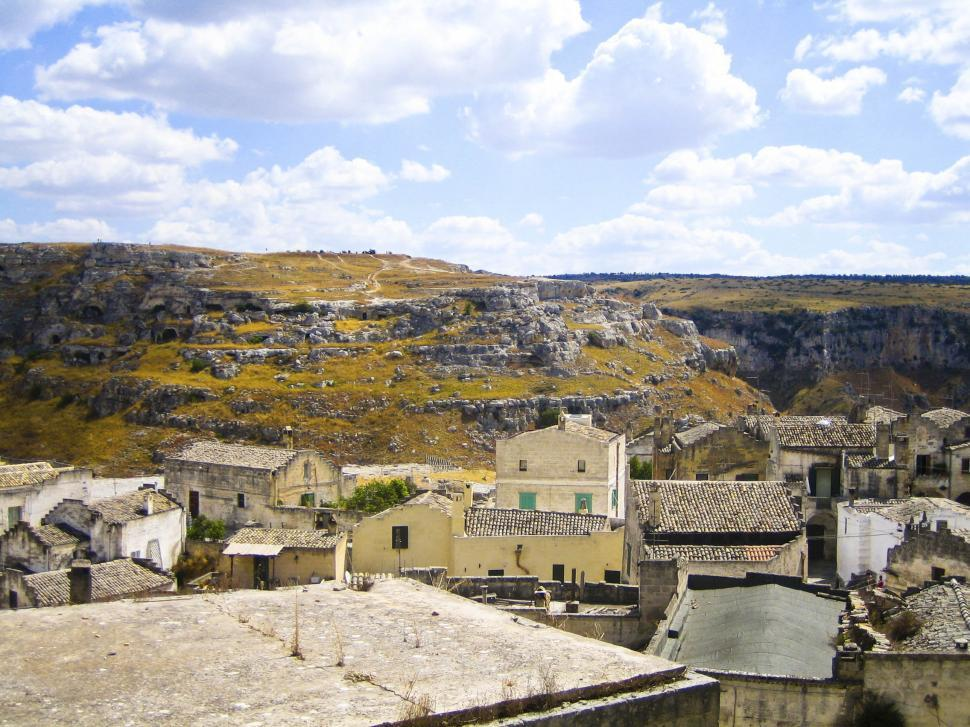 Download Free Stock Photo of Buildings in Sicilian Village