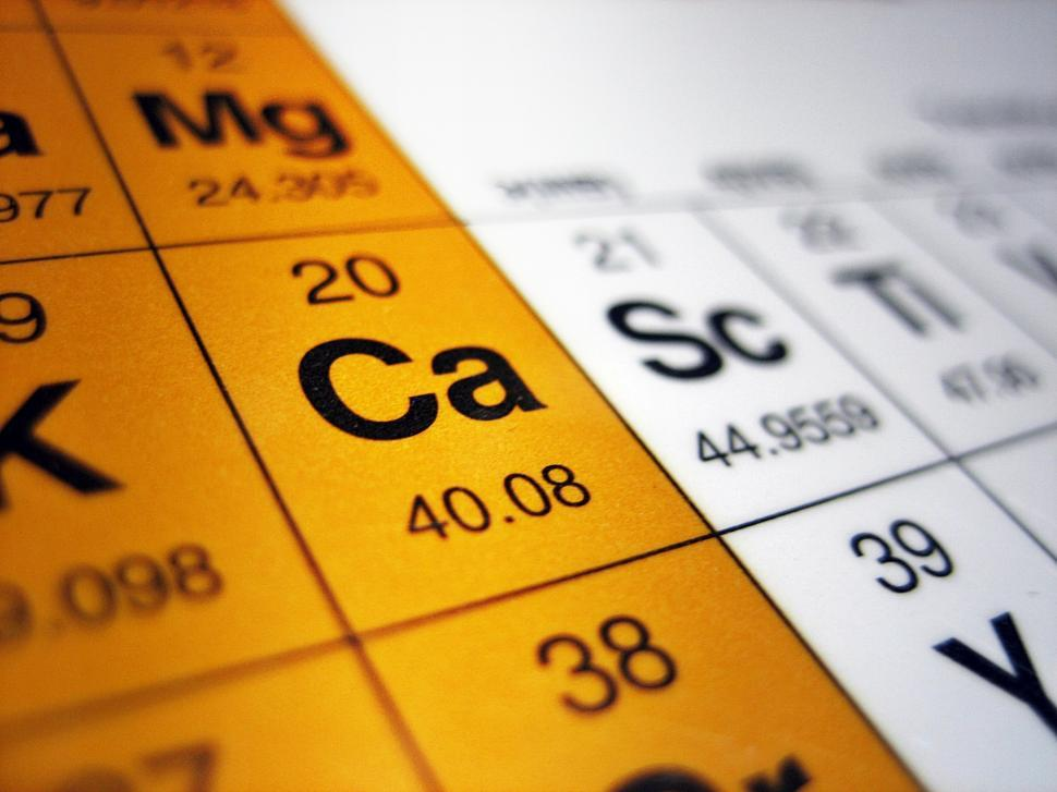 Download Free Stock Photo of Calcium on the Perodic Table