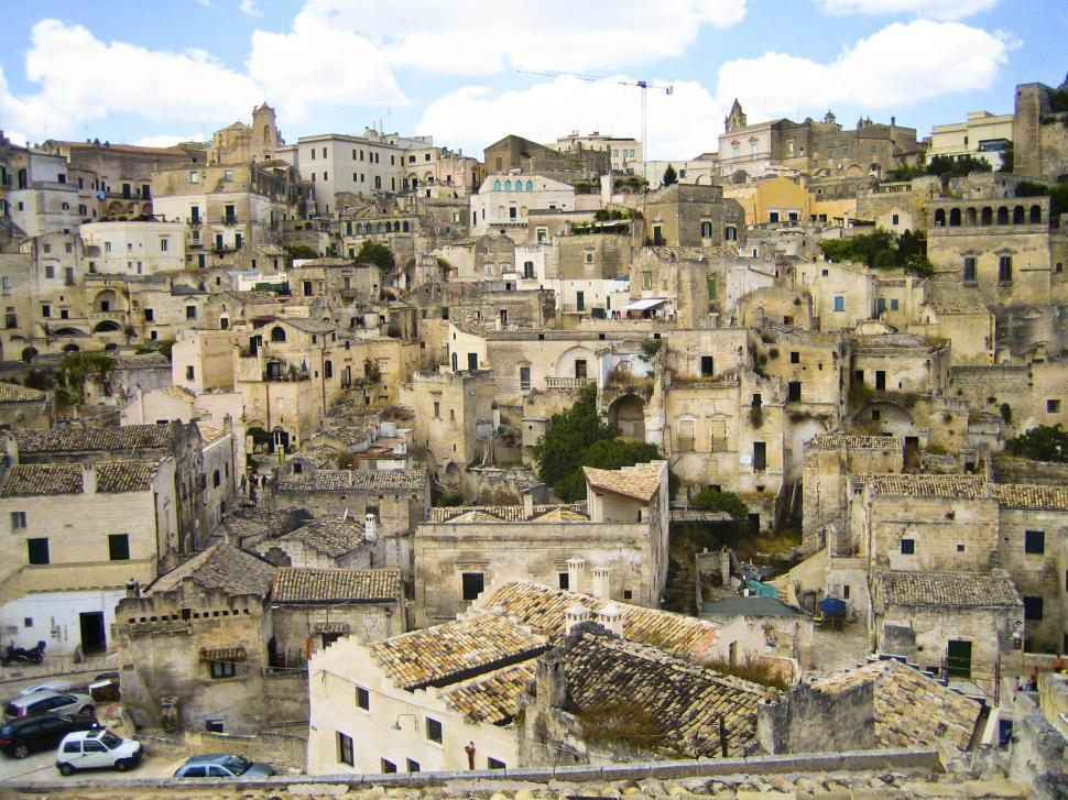 Download Free Stock HD Photo of Matera, Sicily, Italy stone buildings Online