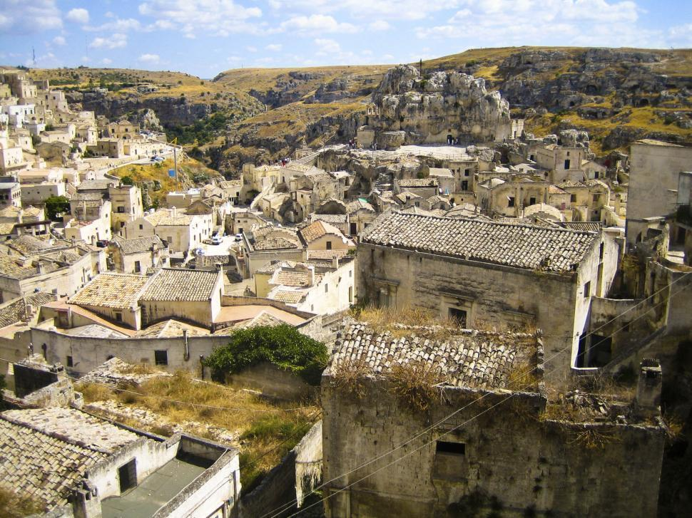 Download Free Stock Photo of Ancient City of Matera, Italy