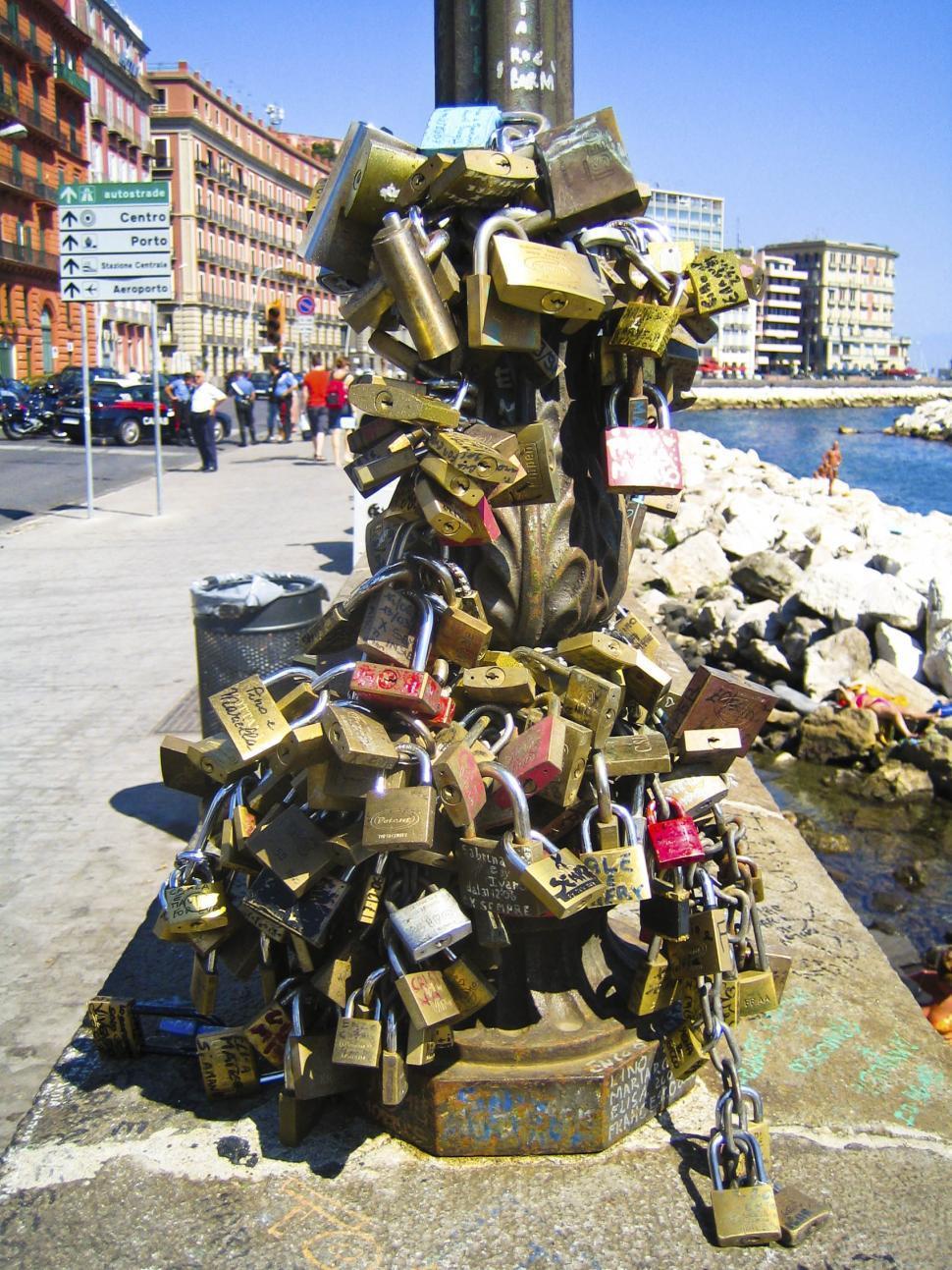 Download Free Stock HD Photo of Napoli locks Online