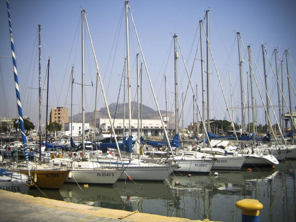 Download Free Stock Photo of sailing boats in harbour