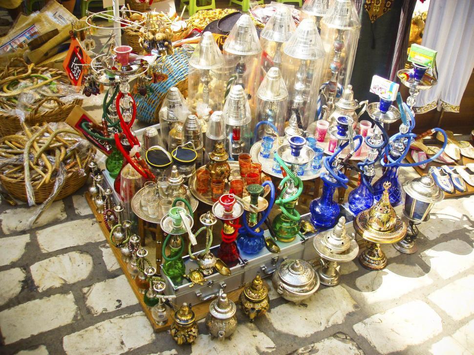 Download Free Stock Photo of Souvenir shop in Tunisia